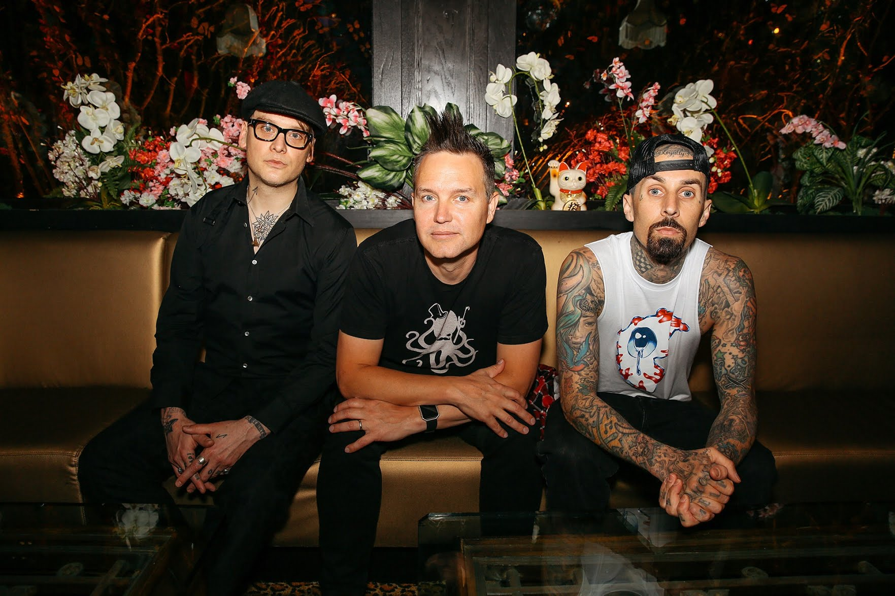 A reconfigured version of the nineties band Blink-182—featuring Matt Skiba (standing in for Tom DeLonge), Mark Hoppus, and Travis Barker—is enjoying renewed popularity among a younger generation of fans.